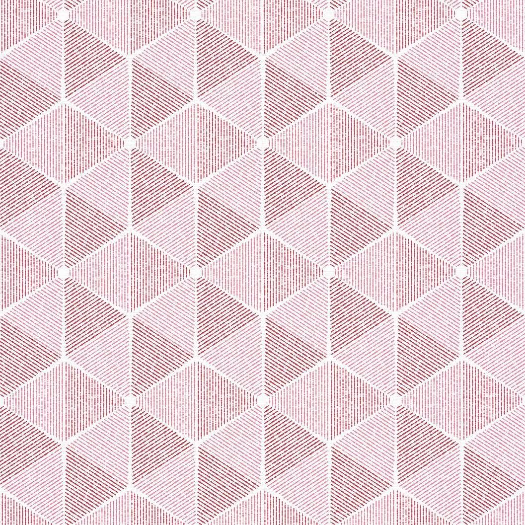 Piros, rózsaszín geometriai mintás tapéta