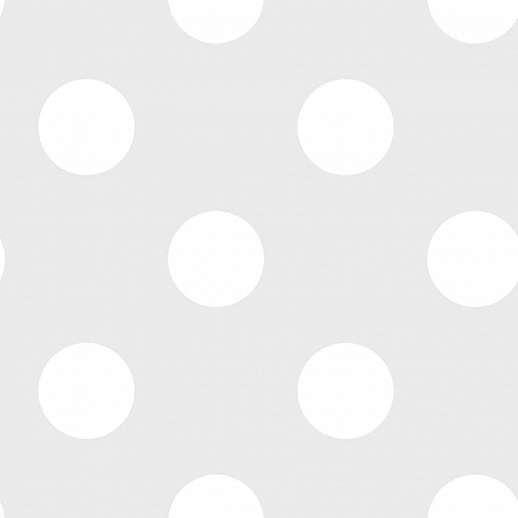 Pöttyös mintás gyerektapéta szürke színben