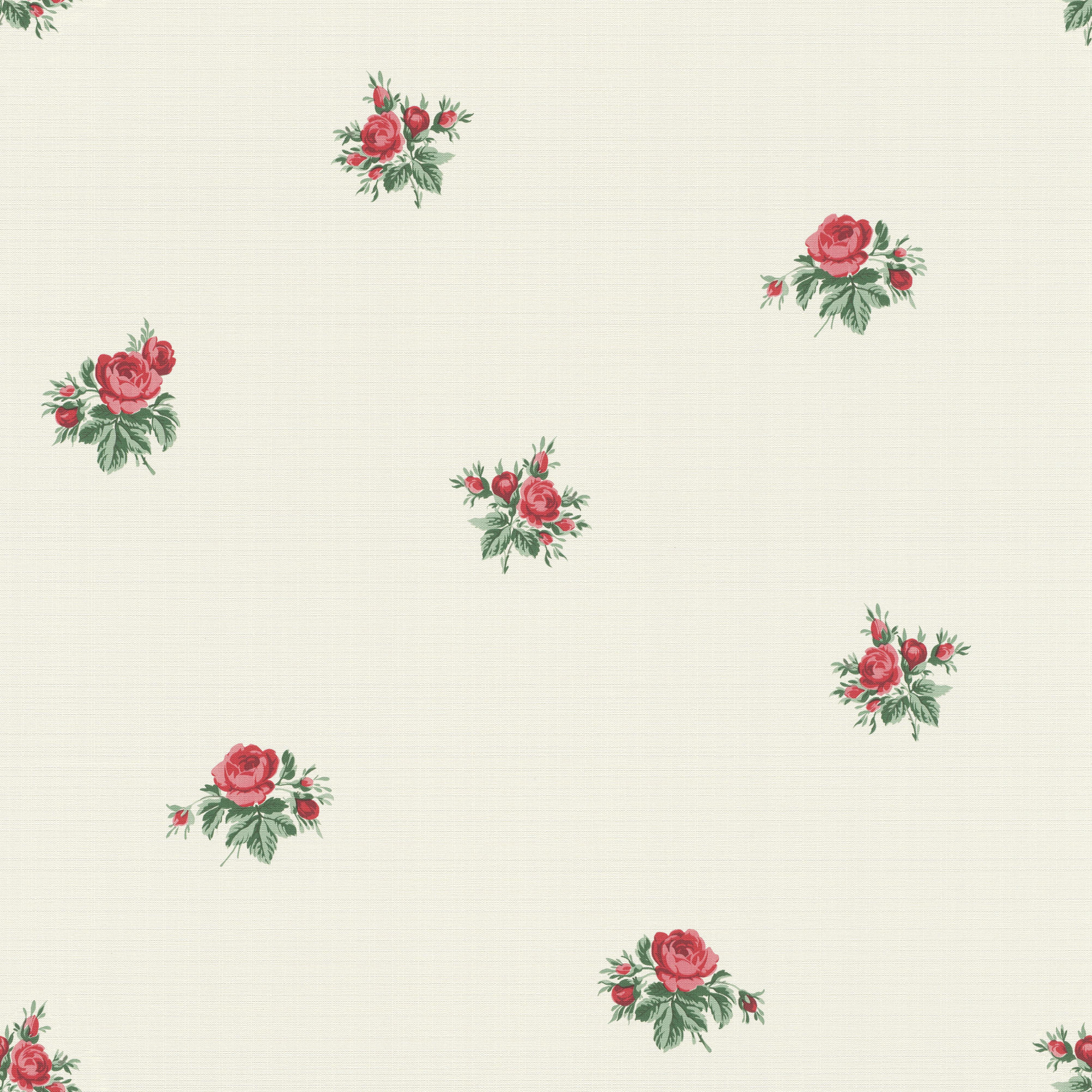 Provance vintage rózsamintás tapéta piros rózsákkal