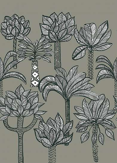 Rajzolt pálmafák fali poszter