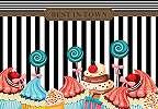 Retro cupcakes mintás fali poszter