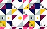 Retro geometrikus mintás pop art fali poszter