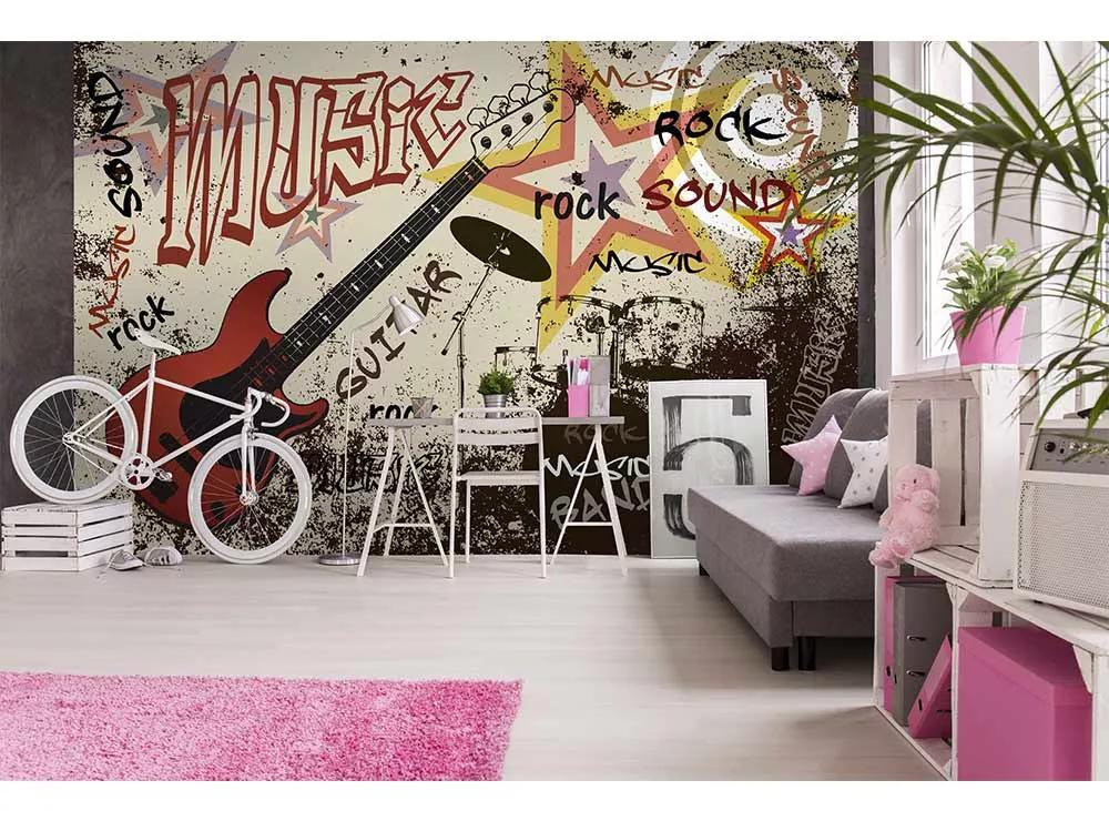 Rock and Roll fali poszter a zene szerelmeseinek