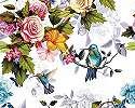 Romantikus hangulatú madár virág mintás oriás fali poszter