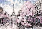 Romantikus hangulatú Párizs Eiffel torony mintás fali poszter