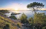 Romantikus naplemente Mallorcán fali poszter