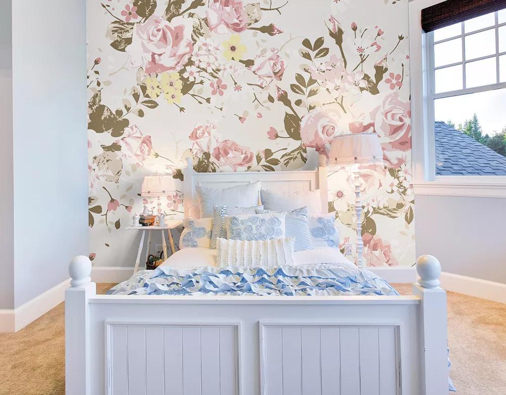 Romantikus rózsa mintás vlies fali poszter
