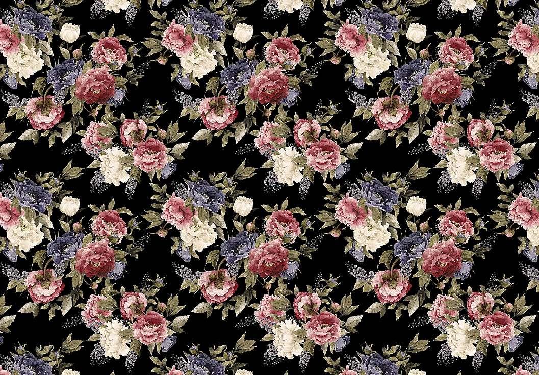 Romantikus trendi virágmintás fali poszter