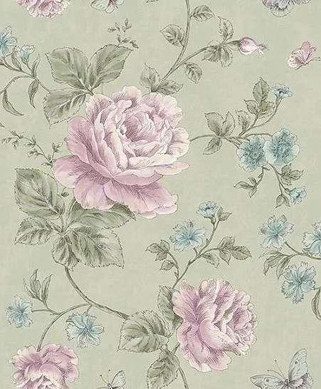 Romantikus virágmintás tapéta rózsa mintával
