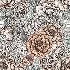 Romantikus virágmintás vlies fali poszter skandináv stílusban