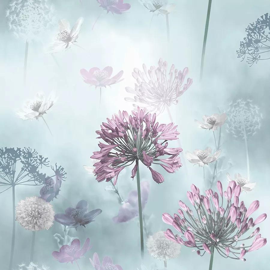 Romantikus virágmintástapéta absztrakt stílusban