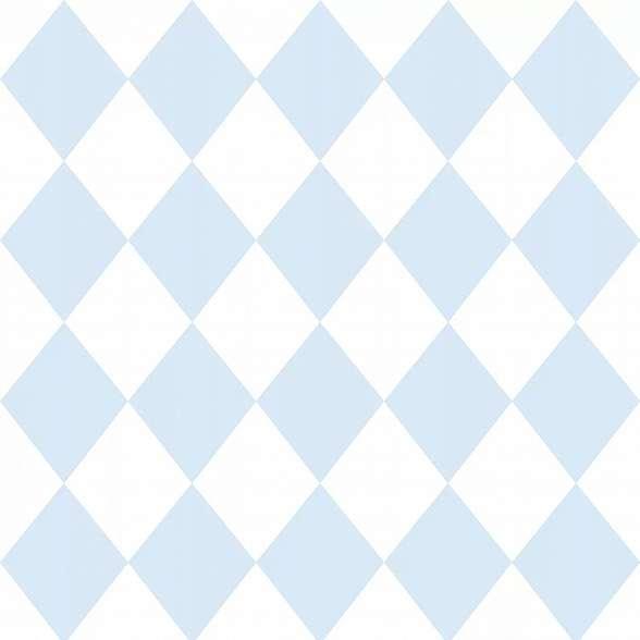 Rombusz mintás gyerektapéta kék színben