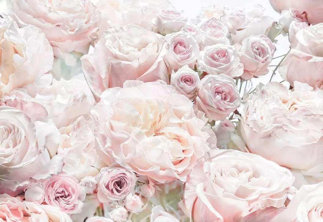 Rózsa mintás fali poszter pasztell rózsaszín színvilágban