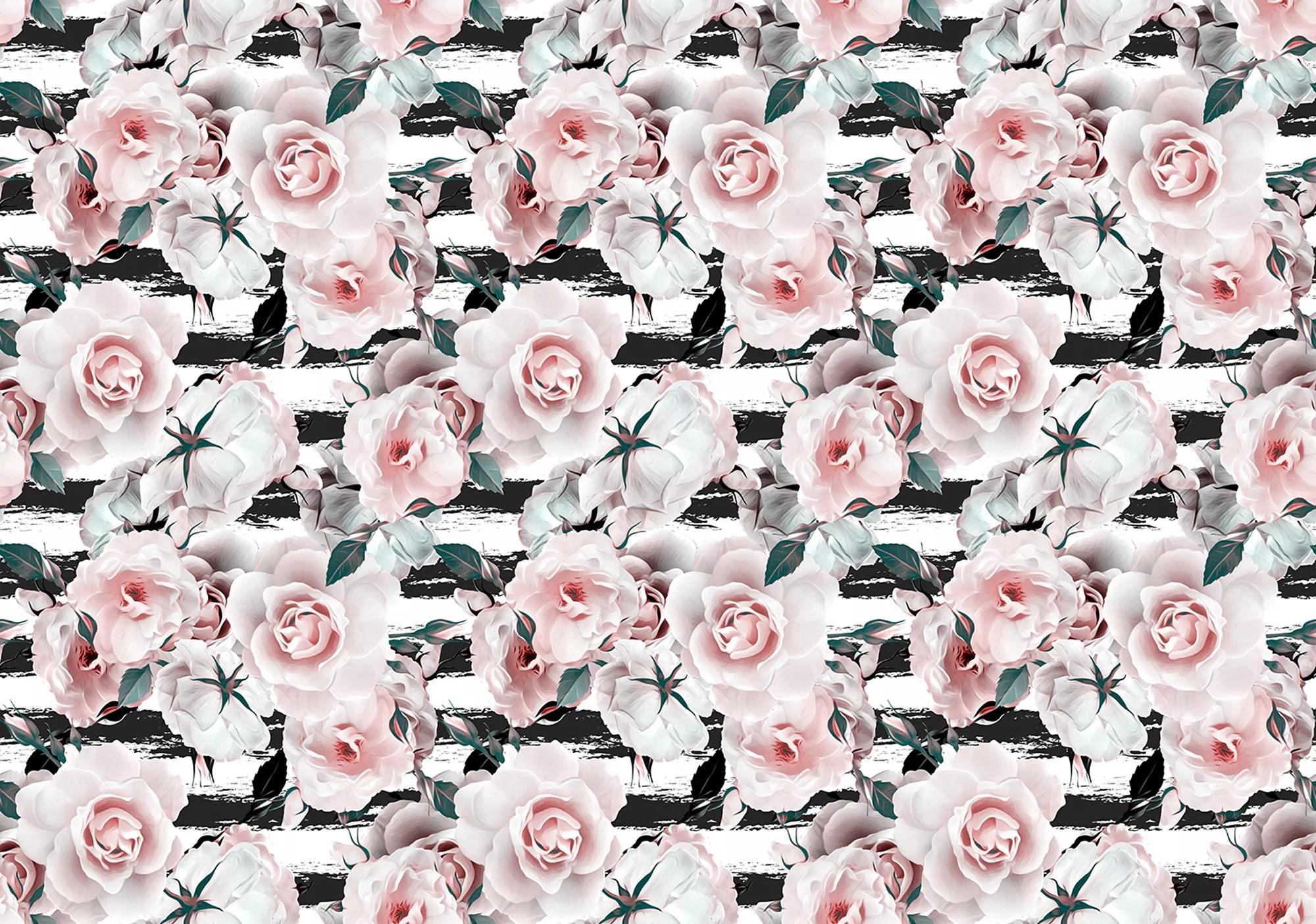 Rózsa mintás óriás fali poszter