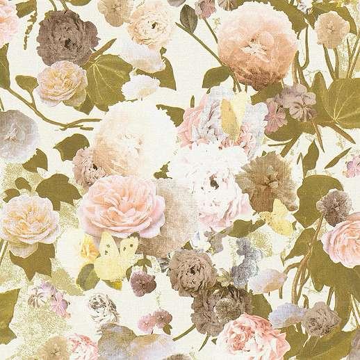 Rózsa mintás romantikus hangulatú vlies tapéta
