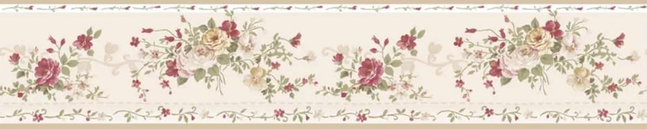Rózsa mintás vintage hangulatú bordűr