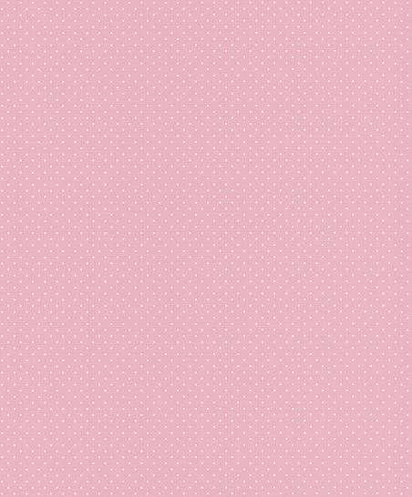 Rózsaszín alapon fehér apró pöttyös mintás tapéta