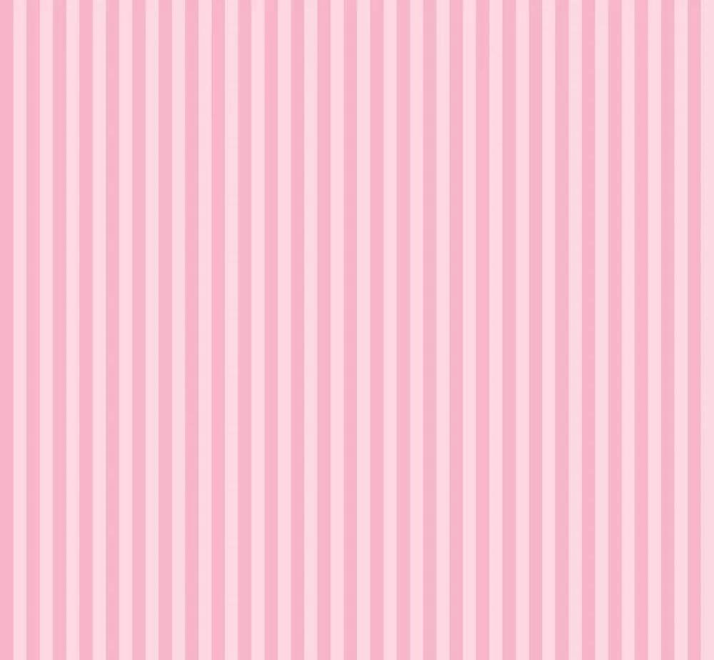 Rózsaszín csíkos mintás gyerek tapéta lány szobába