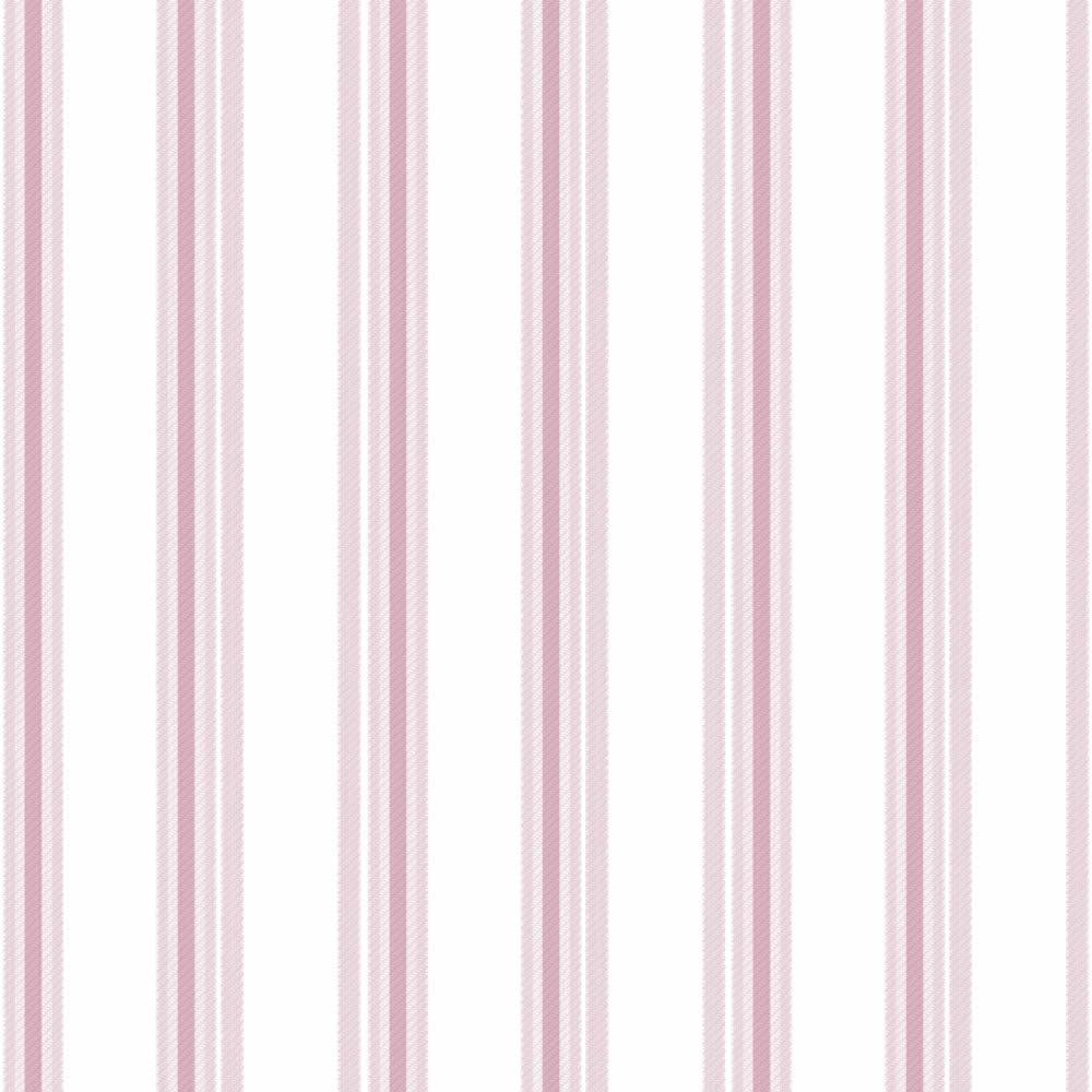 Rózsaszín csíkos mintás lány gyerek tapéta