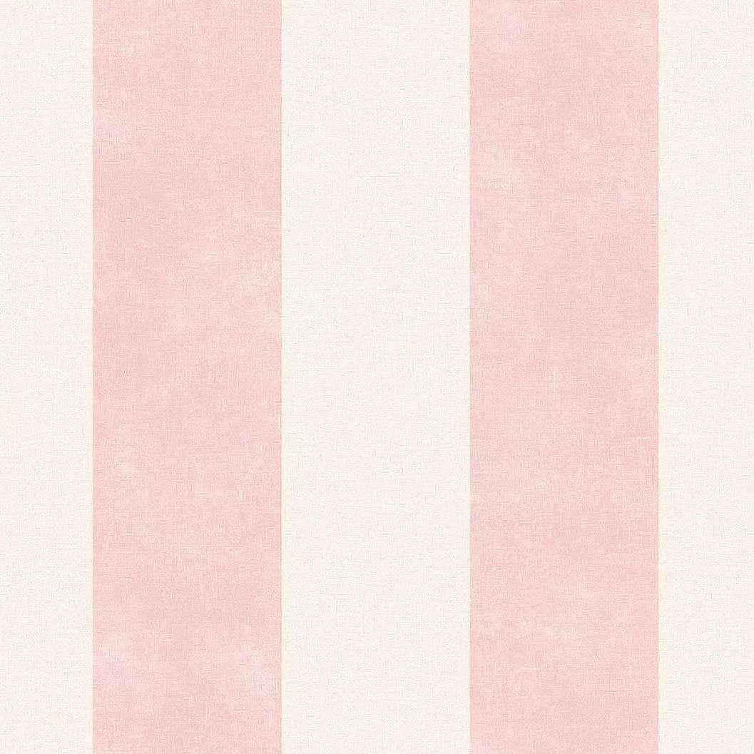 Rózsaszín csíkos mintás mosható felületű vlies tapéta
