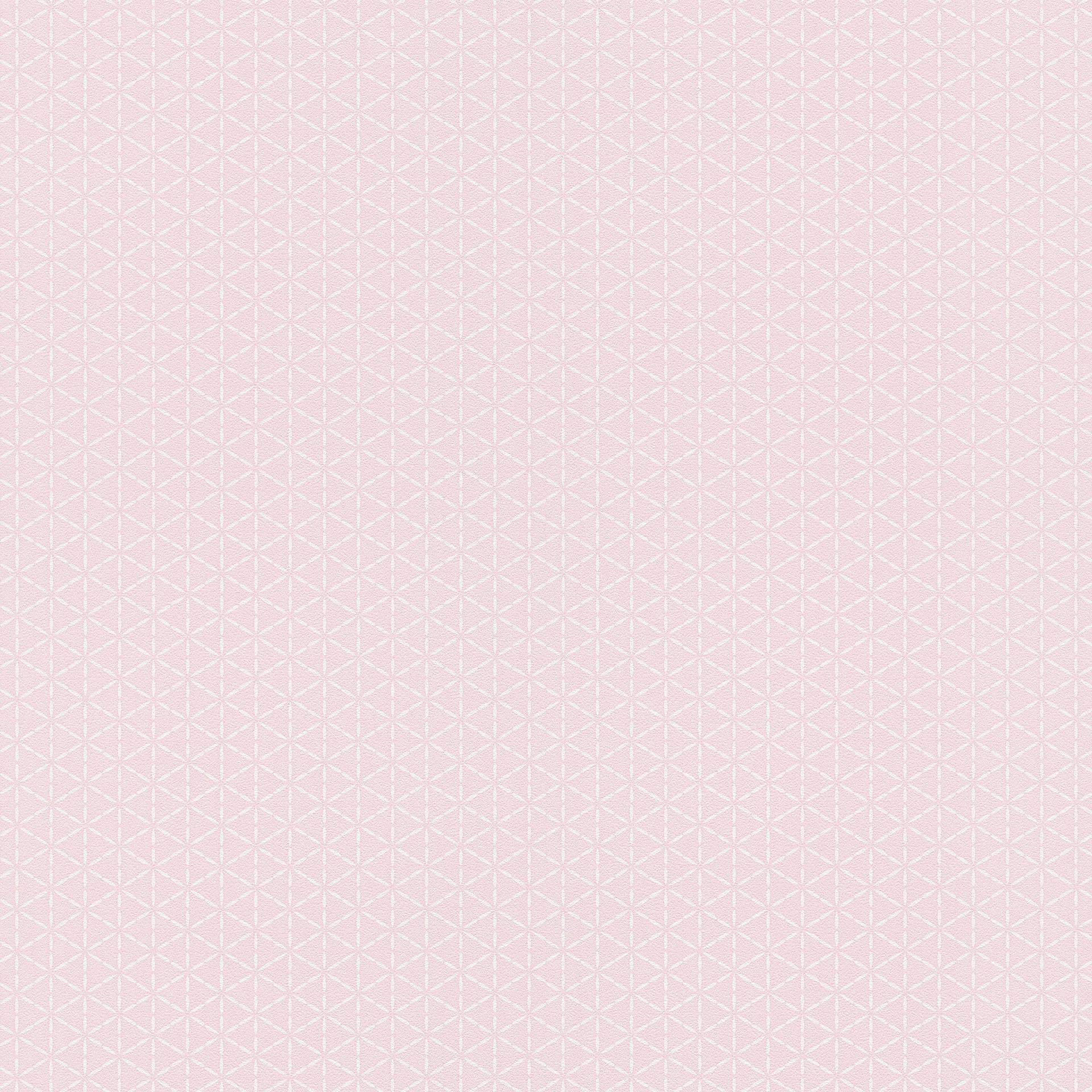 Rózsaszín fehér geometriai mintás tapéta