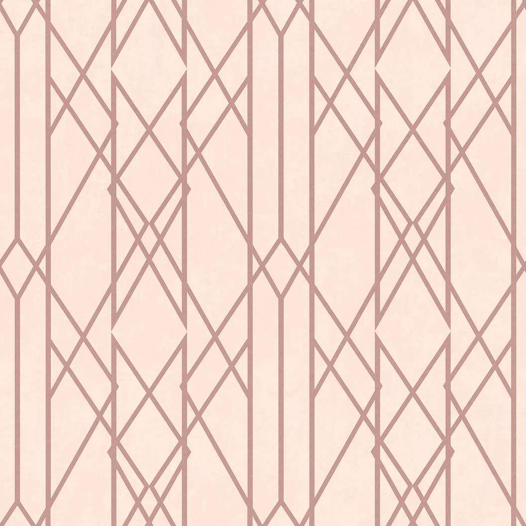 Rózsaszín geometrikus mintás elegáns modern tapéta