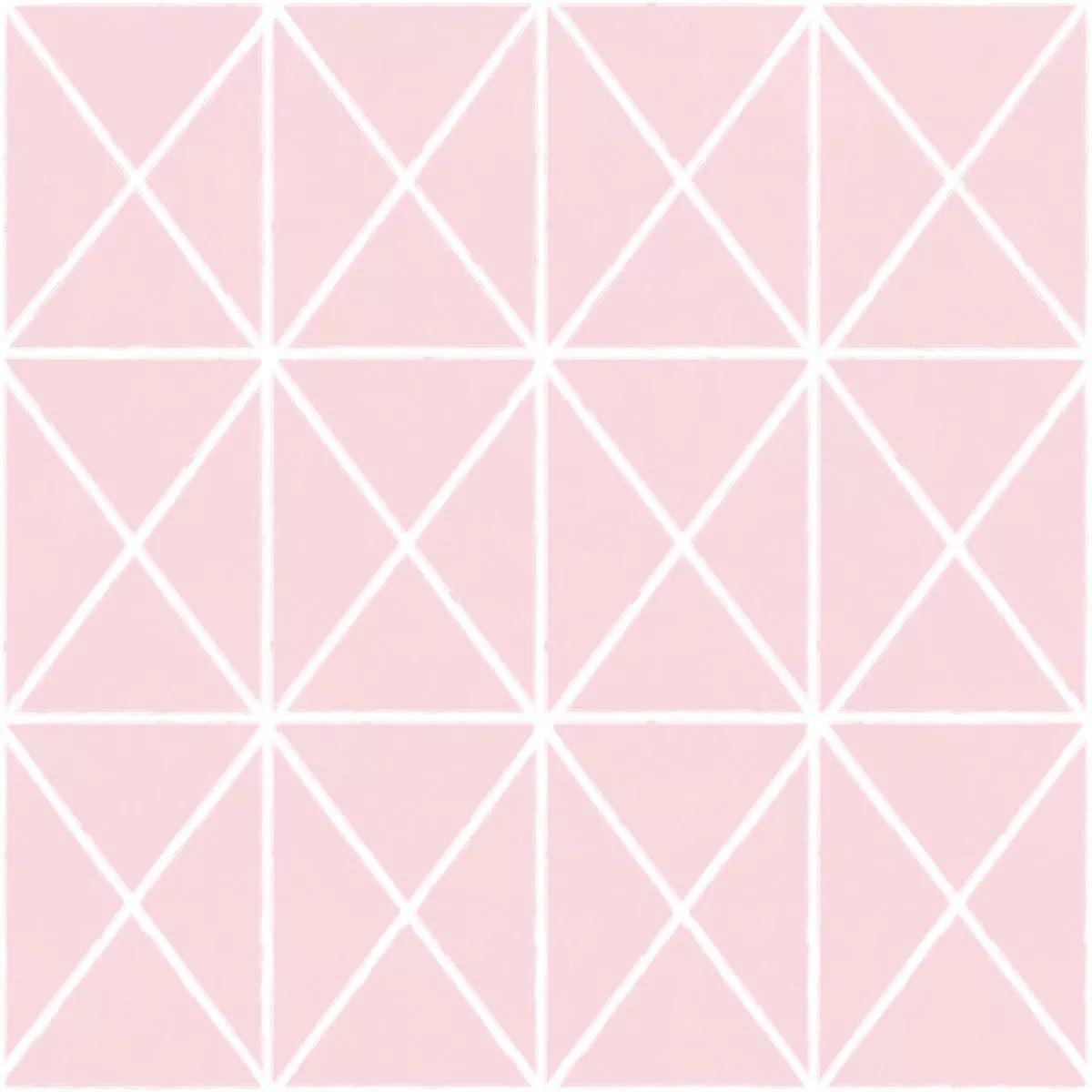 Rózsaszín geometrikus mintás vlies tapéta
