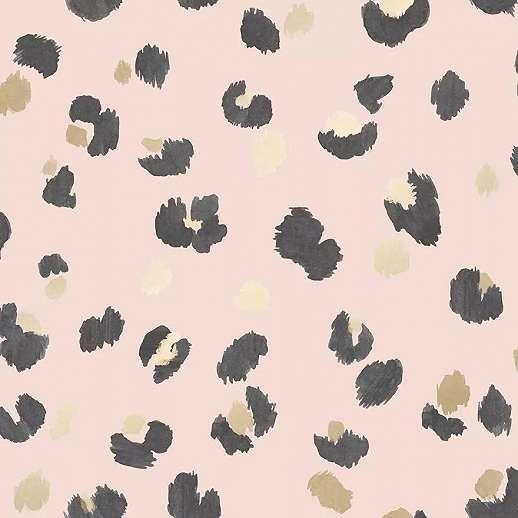 Rózsaszín glammour leopárd bőr mintás vlies dekor tapéta