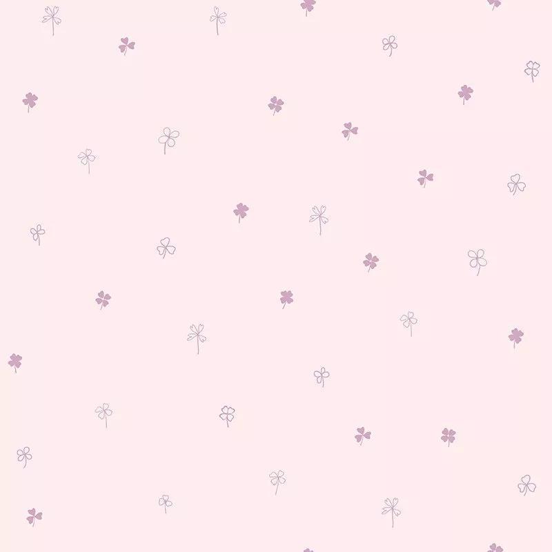 Rózsaszín gyerek tapéta apró lohere mintával