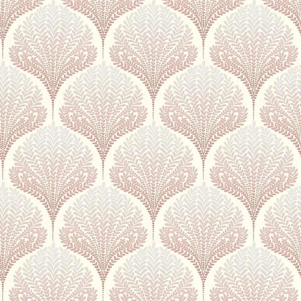 Rózsaszín kagyló mintás tapéta orientális stílusú kagyló mintával
