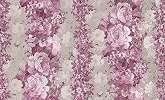 Rózsaszin-lilás virágfűzér mintás tapéta