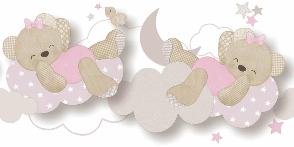Rózsaszín macis bordűr