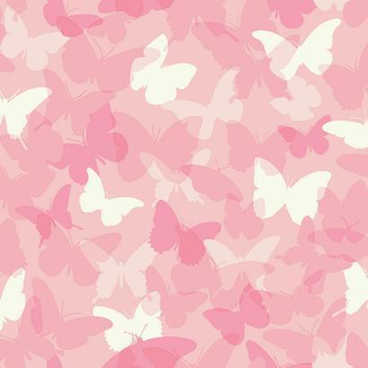 Rózsaszín pillangó mintás gyerek tapéta