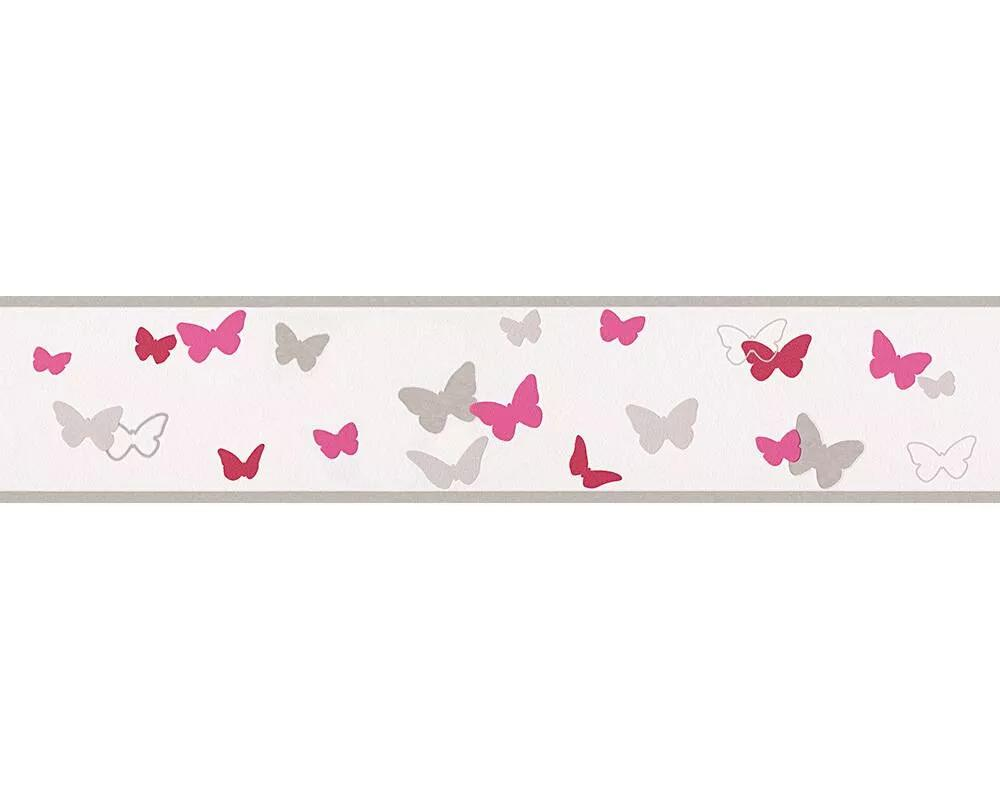 Rózsaszín pillangó mintás vlies bordűr