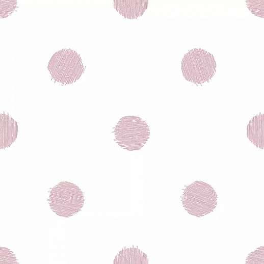 Rózsaszín pöttyös mintás vlies gyerektapéta