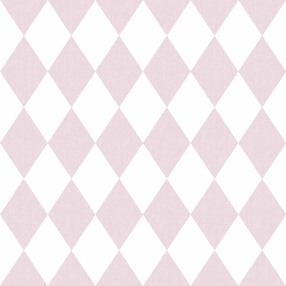 Rózsaszín rombusz mintás gyerek tapéta
