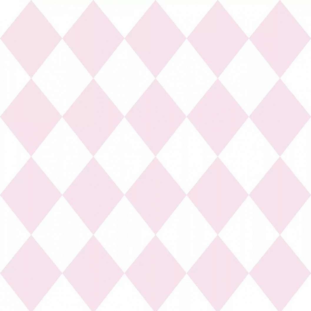 Rózsaszín rombusz mintás gyerektapéta