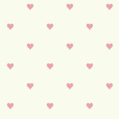 Rózsaszín szívecske mintás gyerek tapéta