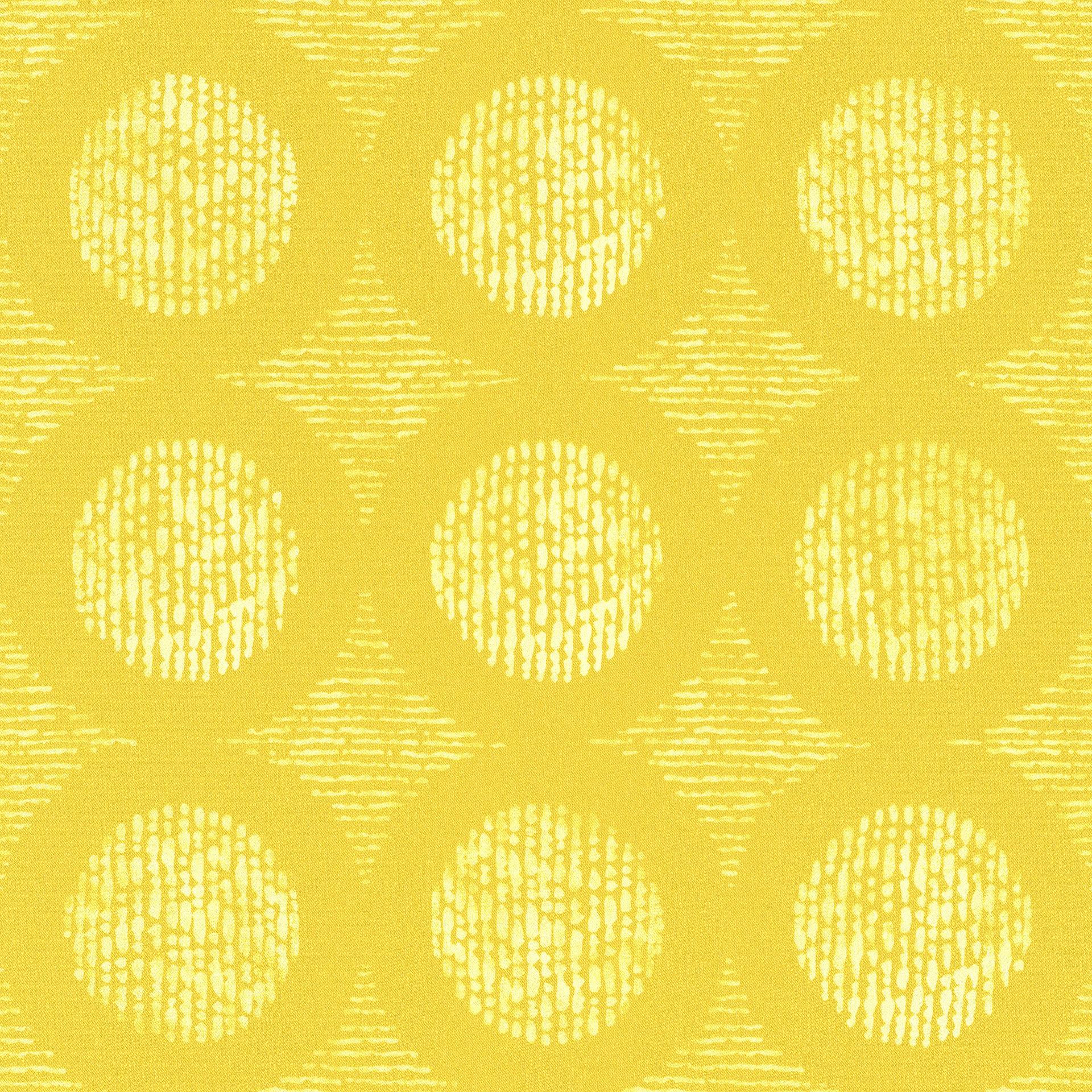 Sárga design korongok mintás tapéta