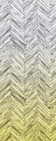Sárga halszálka mintás fali poszter