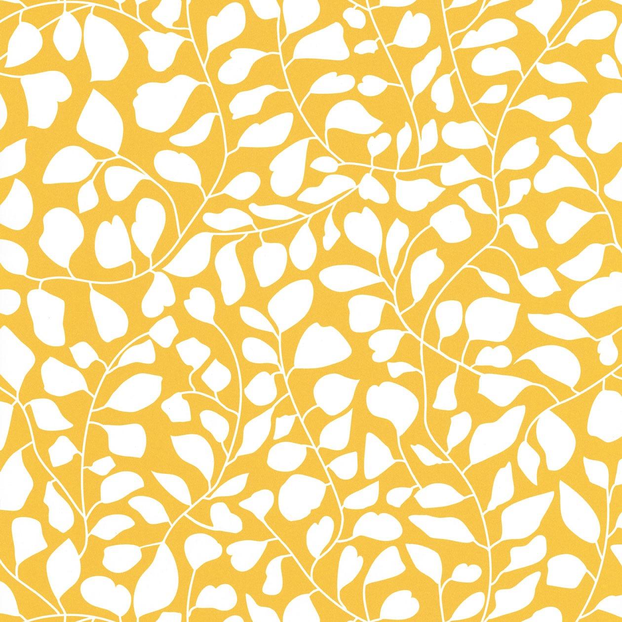 Sárga inda mintás tapéta