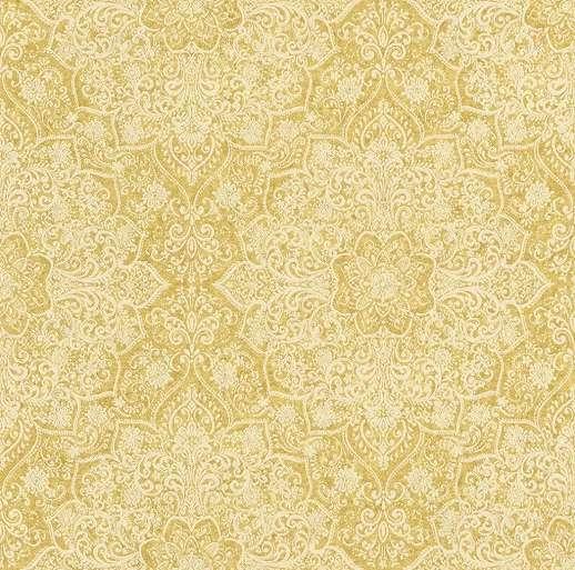 Sárga mandala mintás design tapéta metál fényű felülettel