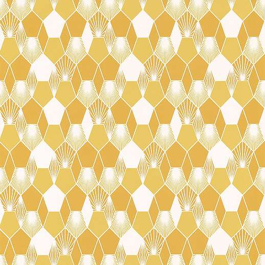 Sárga skandináv stílusú tapéta