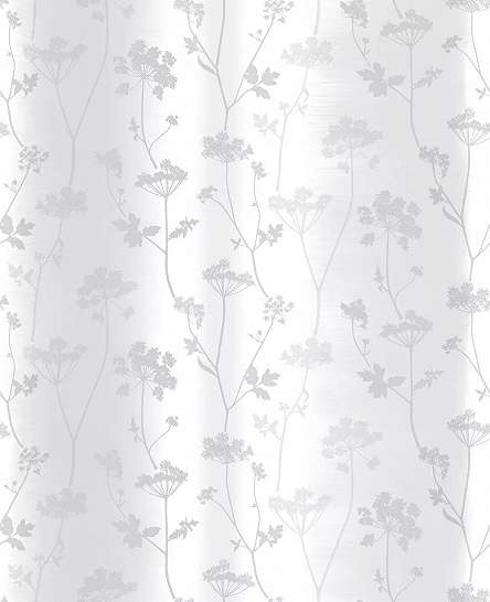 Skandináv stílusú csíkos virágmintás tapéta szürke ezüst virágmintával