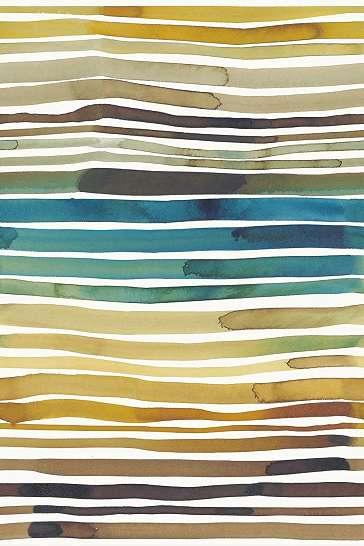 Sokszínű akvarell hatású csíkos mintás Eijffinger luxus fali poszter