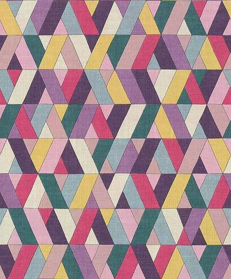 Sokszínű vidám geometrikus mintás vlies tapéta
