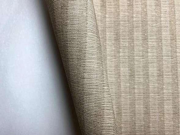 Sötétbézs csíkos texturált vlies tapéta