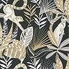 Sötétkék trópusi hangulatú majom mintás vlies design tapéta