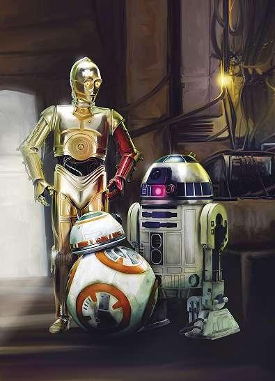 Star Wars droidok fali poszter
