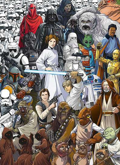 Star Wars fali poszter klasszikus képregény stílusban